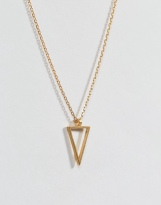 DOGEARED - COLLIER PLAQUE OR - PENDENTIF TRIANGULAIRE EVIDE