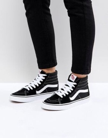 Vans Classic - Sk8 Hi - Baskets - Noir et blanc